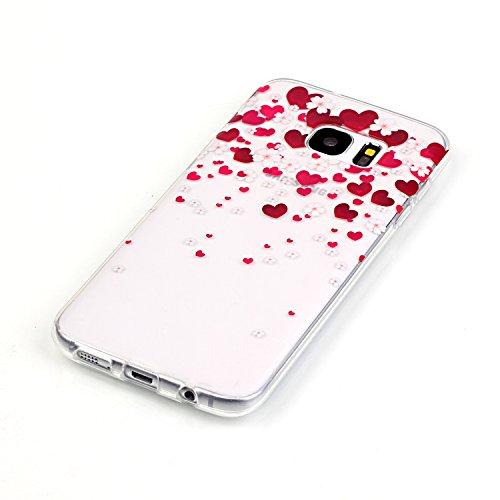 Sunroyal® Custodia per Samsung Galaxy S6 Edge G9250 SM-G925 Protettiva Cover Universale di Ultra Sottile TPU Morbido Antigraffio Trasparente Cristallo Chiaro e Shock-Absorption Bumper Case Posteriore  Modello 10