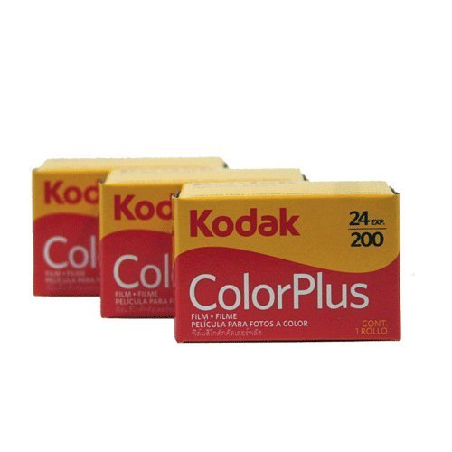 KODAK ColorPlus Filmrolle (200 ASA, 24 Aufnahmen) 35mm, 3er-Pack