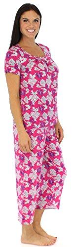 bSoft Ensemble Pyjama Léger Pantacourt Femme en Bambou Jersey Océan Corail