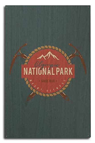 Washington-antik-karte (Lantern Press Anstecker Olympia-Nationalpark, Washington, Mount Olympus, Holz, Multi, 10 x 15 Wood Sign)