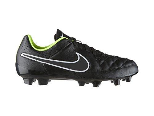 Nike JR Tiempo Genio Leather FG Kinder Fussballschuhe black-black-volt-white - 33,5