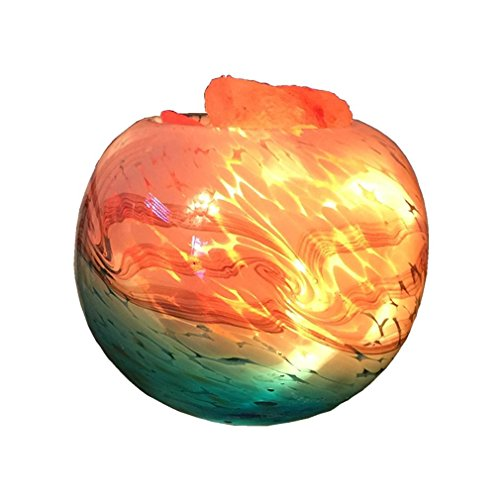 GRFH Cristallo Himalayan lampade di sale comodino