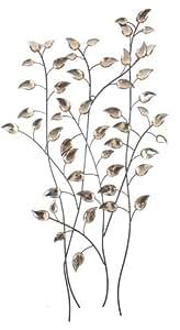 Contemporaines Ambre feuilles d'automne Collection Décoration murale en métal