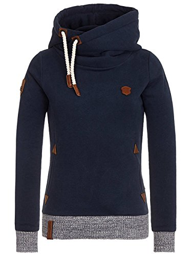 Damen Kapuzenpullover Naketano The Dark Side Hoodie Dark Blue