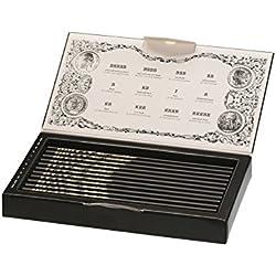 Faber- Estuche de colección edición limitada con 12 lápices Polygrade con distintos grados de dureza (5B - 5H)