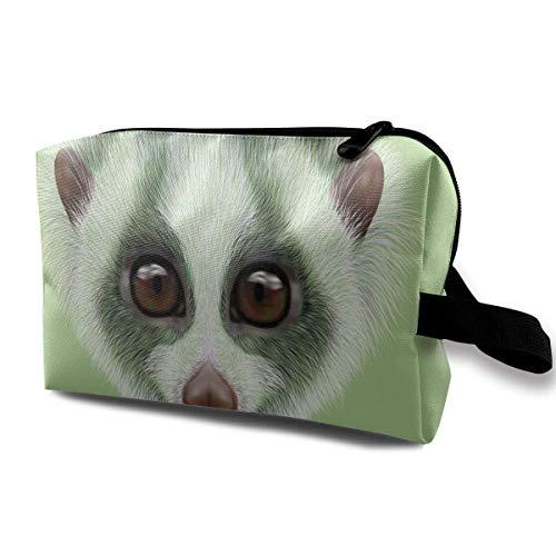 Reise-hängende Kosmetiktaschen Cute Slow Loris Face Multi-Functional Toiletry Makeup Organizer makeup kit bag -