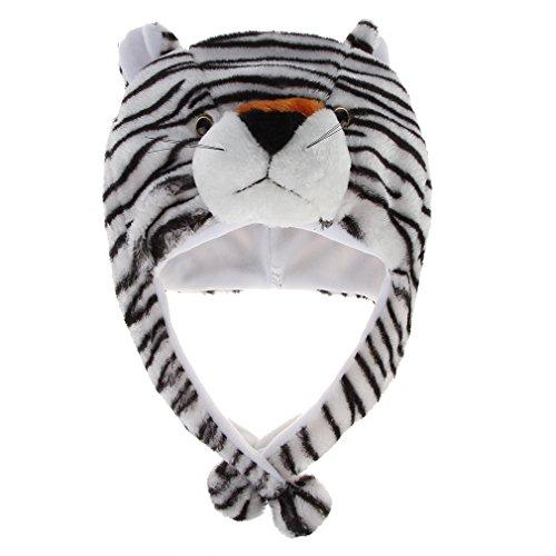 QSJi Penguin Tiermütze Unisex Frauen Mädchen Kinder Plüsch Tier Ohrenschützer Hüte Mützen Wintermütze Party Hut Mütze Halloween Kostüm Karneval Weihnachten Geschenk
