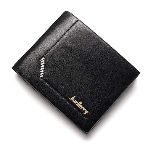 PUTTL Slim Wallet Rome Leather Men's Black/Brown Rom, Brown@1