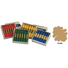 Manley MNC05161 - Pack de 12 ceras, color oro