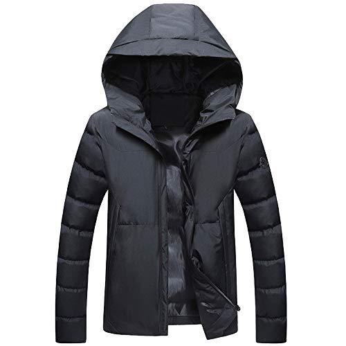 Herren Hoodie Daunenjacke,TWBB Einfarbig Verdicken Daunenmantel Pullover Thermal Jacket Wintermantel Winterjacke Sweatshirt Langarm