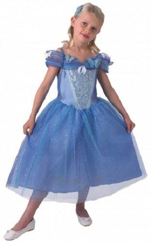 Mädchen Disney Prinzessin Cinderella Buch Tag Woche Verkleidung Kleid Kostüm Outfit 3-8 Jahre - Blau, 3-4 years (Cinderella Film Kostüme)