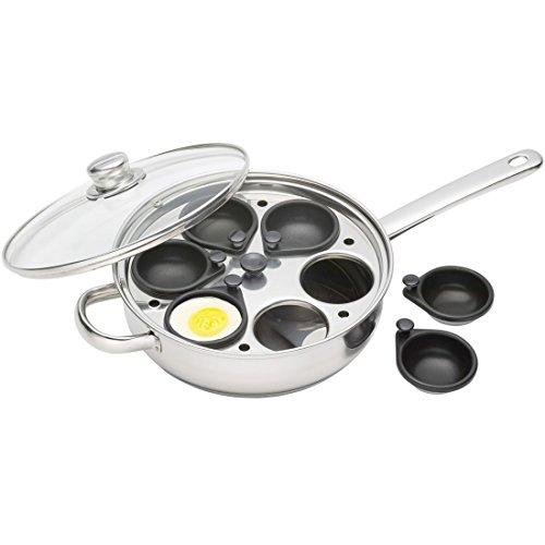 """KitchenCraft Non-Stick Induction-Safe 6-Cup Egg Poacher / Sauté Pan, 26 cm (10"""")"""