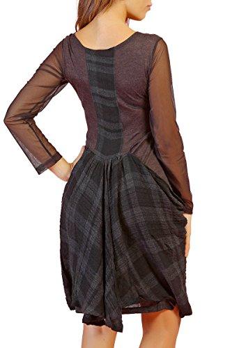 INFINIE PASSION - noir et gris - robe en maille Noir