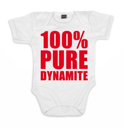 ::: PURE DYNAMITE ::: Baby Body, Weiß/Rot, Größe 12-18 Monate