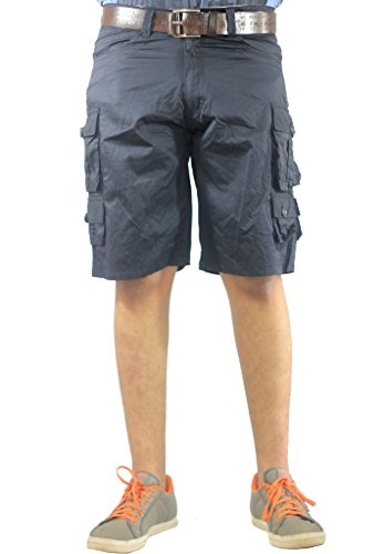 AERO CRAFT 9 POCKET BLUE COTTON CARGO SHORTS