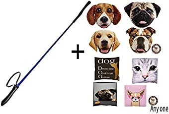 Douge Couture Braided Nylon Dog Training Stick/ Horse Riding Cap with Handle, 31-Inch