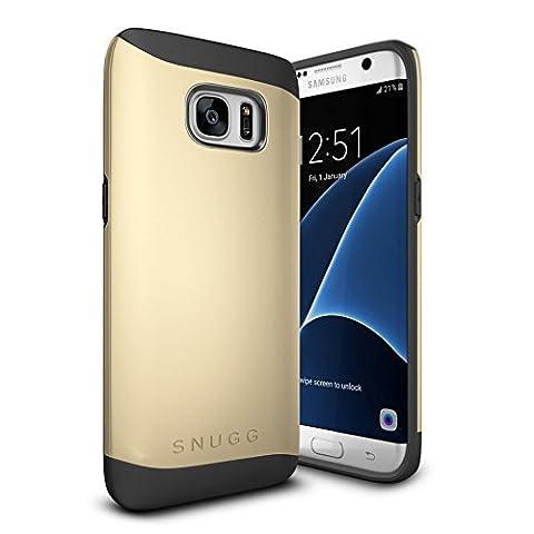 Coque Galaxy S7 Edge, Snugg Samsung Galaxy S7 Edge Double Couche Case Housse Silicone [Bouclier Légère] Etui de Protection – Or, Infinity Series