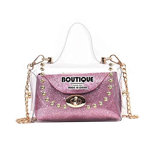 Chloe Leder Rot Handtasche (Mitlfuny handbemalte Ledertasche, Schultertasche, Geschenk, Handgefertigte Tasche,Frauen Wild Messenger Bag Fashion One-Shoulder Kleine quadratische Tasche)