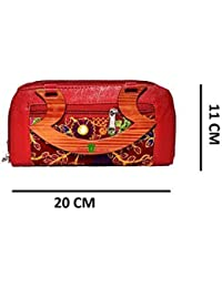 Hand Purse | Hand Wallet | Hand Clutch | Batwa - Bridal RED