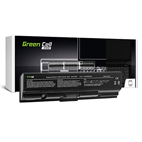 Green Cell Pro Serie PA3534U-1BRS Laptop Akku für Toshiba Satellite A200 A300 A500 L200 L300 L500 (Original Samsung SDI Zellen, 6 Zellen, 5200mAh, Schwarz) -