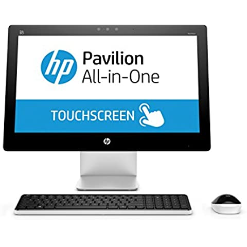 HP Pavilion 23 q105ng - PC Desktop All in One 58,4 cm/FHD, Intel Core i5-4460T, 8 GB RAM, 1 TB HDD, AMD Radeon R7 A360, Win 10 Home 64, colore: bianco