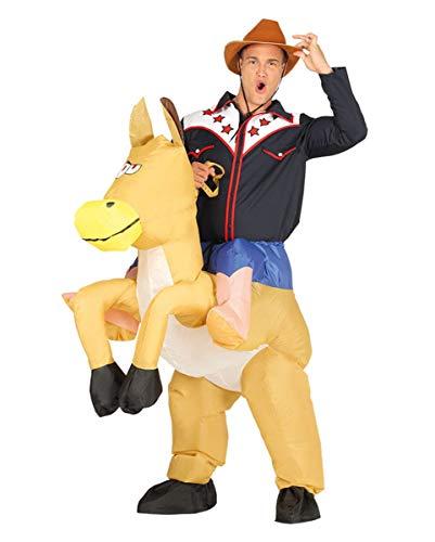 Horror-Shop Aufblasbares Cowboy Carry Me Kostüm für Fasching One ()
