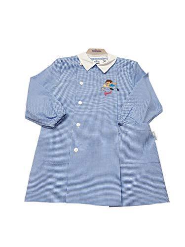 Siggi grembiule asilo scuola materna per bambino (art. 33gr3068) (quadricielo, 60-5 anni)