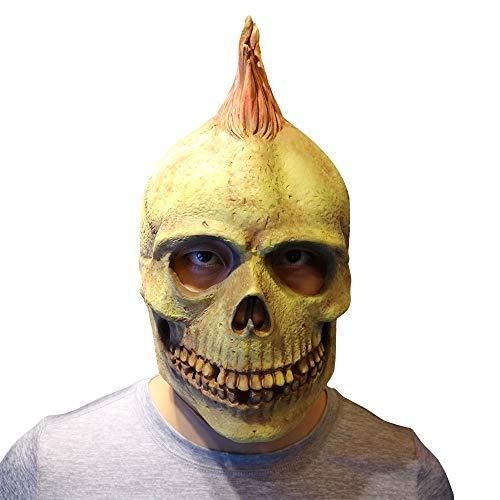 Watopi♥ ♥ maschera punk halloween spaventosa testa in lattice horror maschera cosplay realistica maschera di sangue teschio costume personalizzato confortevole per uomini e donne