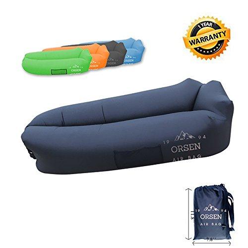 Orsen Aufblasbare Liegetragbar Airbag AirBetten Schlafen Sofa Couch, für Reisen, Camping, Strand, Park, Backyard,Hinterhof (Schwarz)