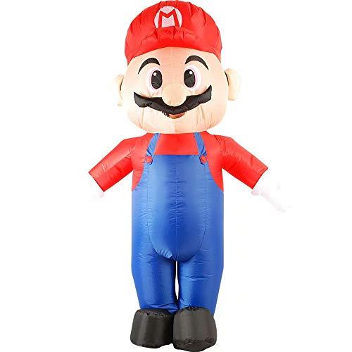 RenKeAi Erwachsene Super Mario Aufblasbares Kostüm Halloween Kostüm Blow Up Party Cosplay Aufblasbares Super Mario Cosplay mit Luftgebläse - 160-190 cm - Hello Kitty Cosplay Kostüm