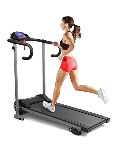 New Motorised Electric 10km Treadmill Running Machine Folds Away Folding (Black and Grey)