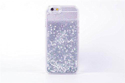 Stelle cadenti liquido glitter 3d bling cover per iPhone 5/5S SILVER