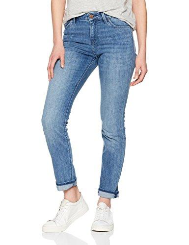 Lee Damen Slim Jeans Elly, Blau (Unplugged Auvk), 42 (Herstellergröße: 33/33)
