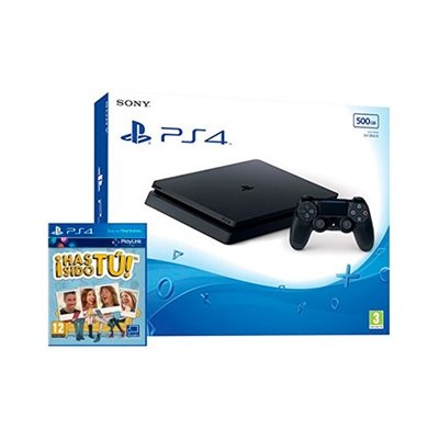 PlayStation 4 (PS4) - Consola De 500 GB, Color Negro + Voucher ¡Has Sido Tú! (precio: 254,51€)