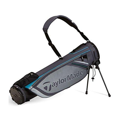 TaylorMade 2016 Quiver Pencil Bag Mens Golf Carry Bag-2 Way Top Gray/Aqua
