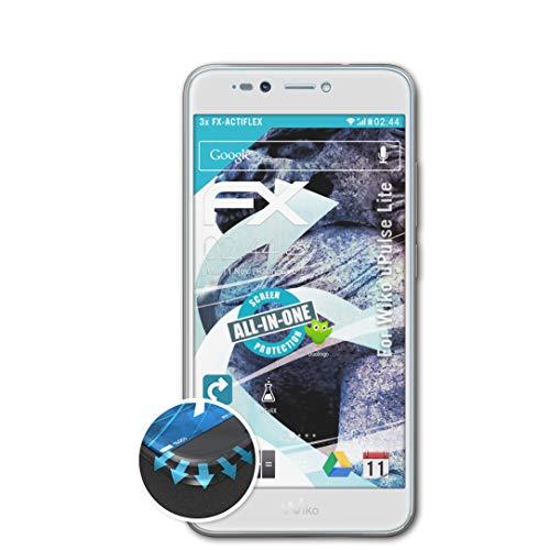 atFolix Schutzfolie passend für Wiko uPulse Lite Folie, ultraklare & Flexible FX Bildschirmschutzfolie (3X)