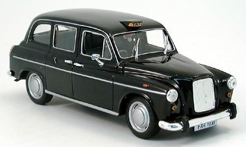 Preisvergleich Produktbild Austin FX 4, London Taxi, schwarz , Modellauto, Fertigmodell, Welly 1:24