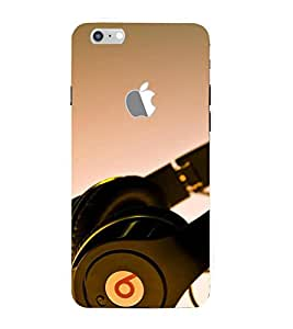 Takkloo Headphone picture music lover,song listener over headphone, trendy pics) Printed Designer Back Case Cover for Apple iPhone 7 (Logo View Window Case)