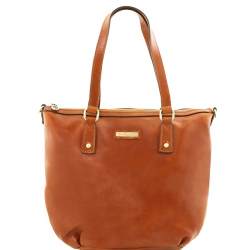 Tuscany Leather Olga - Borsa shopping in pelle - Misura Grande Rosso Borse donna a tracolla Miele