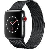 Apple Watch Series 3 LTE /4G 42mm Edelstahlboîte Space Noir Milanaise Noir