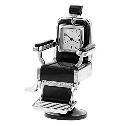 TM16 - Reloj de Cuarzo para coleccionista, diseño de Silla de barbero, Color Negro