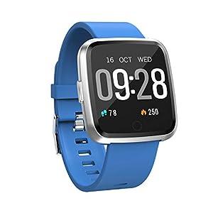 Y7 Smartwatch mit Langer Standby-Zeit, Blutdruck-Sauerstoff, Smart-Watch, wasserdicht, BT4.0 Herzfrequenz für Männer und Frauen