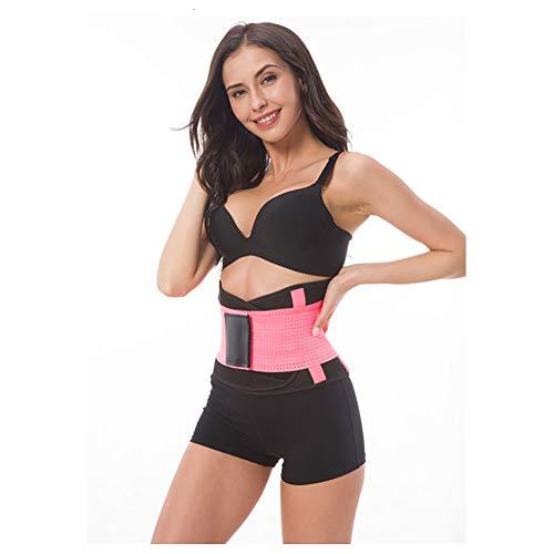 Taille Stützriemen Unterer Rücken Yoga Gürtel Elastizitätunterstützung Sport Gürtel Farbe Gürtel Sport Taille Gürtel Warm Bleiben Atmungsaktiv,Pink,XL