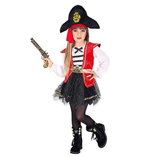 Widmann - costume da pirata per bambina, multicolore, s, wdm06985