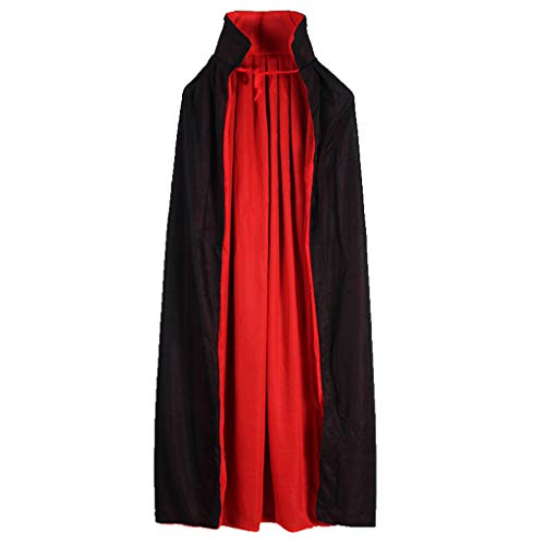 Up Kragen Stand Kostüm - LuohuiFang Männer Frauen Halowee Neuheiten Vampire Cloak -Cape Stand -up Kragen Cap Red And Black Reversible For Halloween Kostüme Themenparty Cosplay