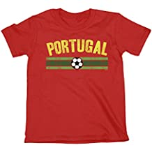 627f95a0c52e2 Niños O Niñas Portugal Distressed Country Fútbol Camiseta Copa Mundial ...