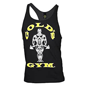 Golds Gym Classic Stringer Tank Top Pumping Iron original Gold's (schwarz, M)