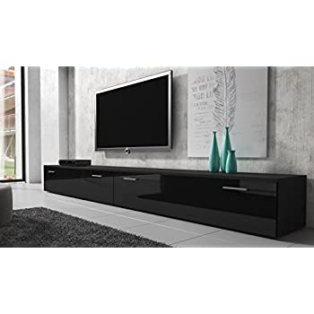 mirjan24 tv schrank vigo fernsehschrank tv lowboard mit grifflose ffnen h ngeschrank. Black Bedroom Furniture Sets. Home Design Ideas