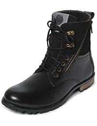 Bacca Bucci Men Black Genuine Leather Boots