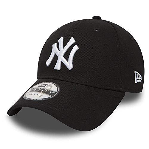 New Era 9forty Cap MLB New York Yankees im Bundle mit UD Bandana #2504 (Schwarz Auf Schwarz Bandana)